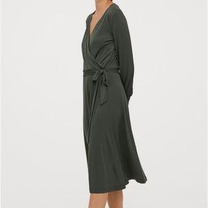 H&M green evening dress
